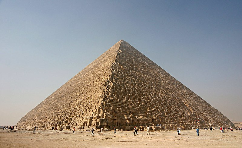 Great Pyramid of Giza, courtesy Wikimedia/Nina Aldin Thune