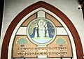 Kierch Diddeleng, Inskriptioun lénksen Agang.jpg