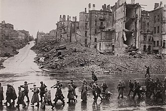 Battle of Kiev (1943) - Khreshchatyk, Kiev, after the battle