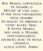 prayer in Kikongo