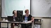 Kira Kraemer y Nicole Ebber en Wikimanía 2013 (1375935480) Hung Hom, Hong Kong.jpg