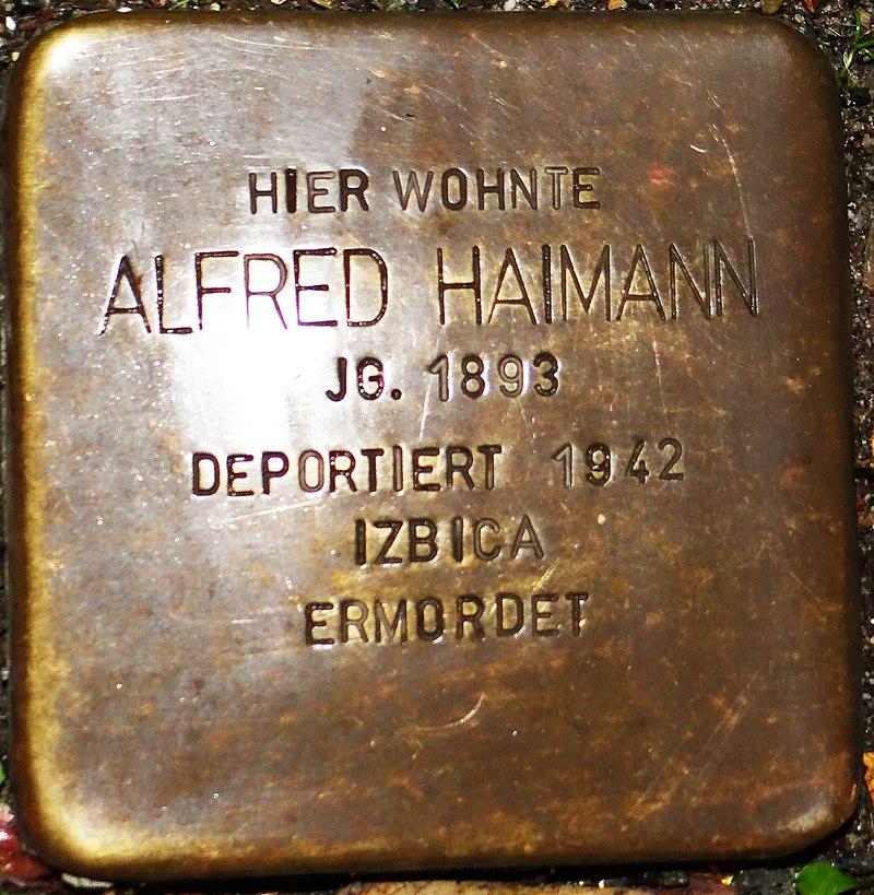 Kirchberg im Hunsrück Stolperstein Kappeler Straße 3 Alfred Haimann.jpg