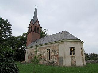 Annelie Grund - Glass altarpiece in the church in the village of Lünow