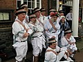 Kirtlingtom Morris Men posing outside the Hand Hotel - geograph.org.uk - 1762140.jpg