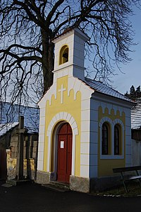Klisín (Milevsko). Kaple sv. Trojice z roku 1861. (2).jpg