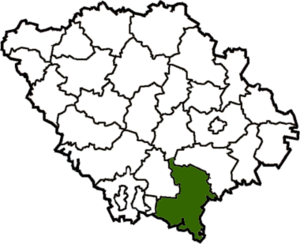 Кобелякский район на карте