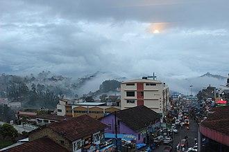 Kodaikanal - Kodaikanal Main Town covered with mist