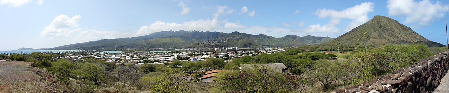 Panoramic view of the Koko Head
