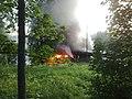 Kontulan Urheilukentän koppi palaa - panoramio.jpg