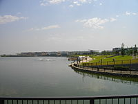 Koshigaya LakeTown Pond 1.JPG
