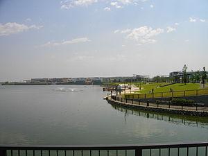 Koshigaya, Saitama - View of Aeon LakeTown shopping mall