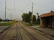 Kosice, tramvajová dráha Nad Jezero
