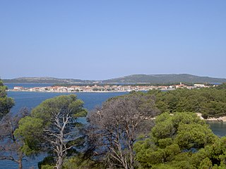 Krapanj Island in the Adriatic Sea, south of Šibenik, Croatia