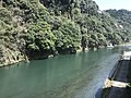 Kusugawa River near Amagase Station from train of Kyudai Main Line.jpg