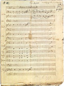 Image illustrative de l'article Symphonie nº 31 de Mozart
