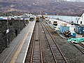 Kyle of Lochalsh railway station, Ross and Cromarty - Platform 1 view south from the overbridge.jpg