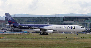 Airbus A340 of Chile's LAN Airlines.