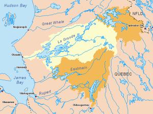 La Grande River - Image: La Grande map 2