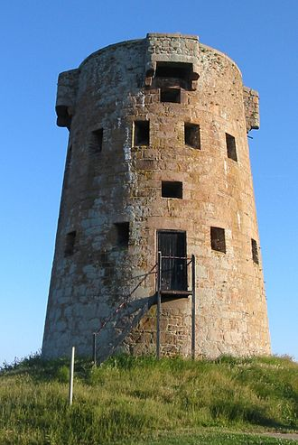 Saint Clement, Jersey - The round tower at Le Hocq is a prominent coastal landmark