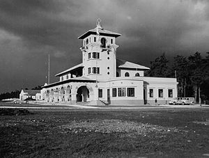 La Aurora International Airport - Original airport building, circa. 1940.