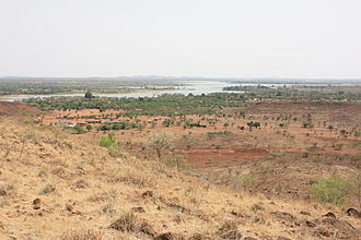 Lake Bam - Lake Bam, seen from the South