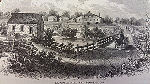 Battle of Lacolle Mills (1814) - Image: Lacolle Mill