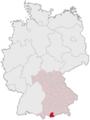 Lage des Landkreises Garmisch-Partenkirchen in Deutschland.PNG