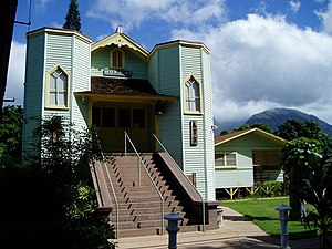 Lahaina, Hawaii - Hokoji Shingon Mission in downtown Lahaina, a Japanese Buddhist temple