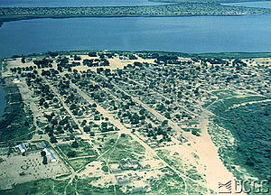 Wildlife of Chad - Aerial photo of Lake Chad