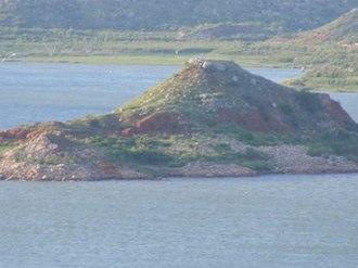 Fritch, Texas - Image: Lake Meredith Rattlesnake Island
