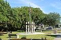Lakeside Park, Veteran's Memorial Sculpture Garden, Veterans memorial from South.jpg