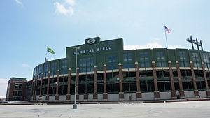 English: Exterior image of Lambeau Field, home...