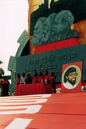 Janatha Vimukthi Peramuna - Janatha Vimukti Peramuna leadership at May Day Celebration in Colombo in 1999.