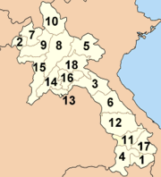 Provinces of Laos