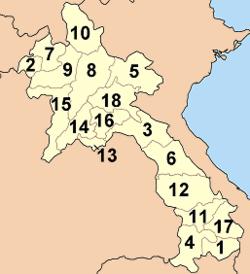 División territorial de Laos
