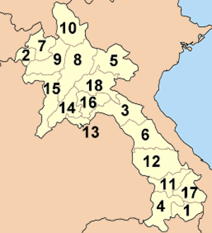 Provinces of Laos - Image: Laos provinces