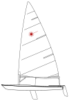 Laser dinghy.svg