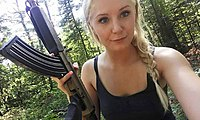 Lauren Southern With Rifle