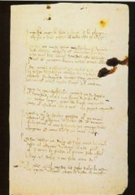 Page from a manuscript of El libro de buen amor from the National Library in Madrid