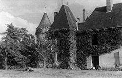 Le château de Princé (La Chapelle-Saint-Laud) en 1944.jpg