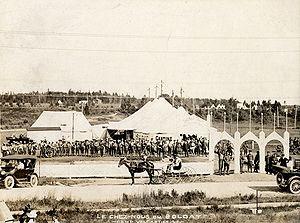 """CFB Valcartier - """"Le chez nous du soldat"""" – a soldiers' canteen in 1918"""