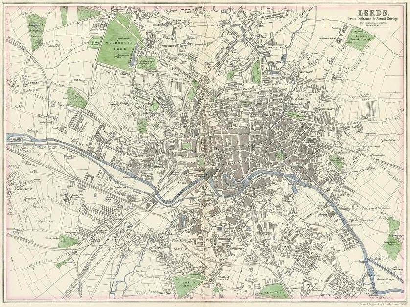 Leeds 1866 by J Bartholemew edited