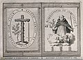 Left, the banner of the Spanish Inquisition; right banner of the Inquisition in Goa.jpg