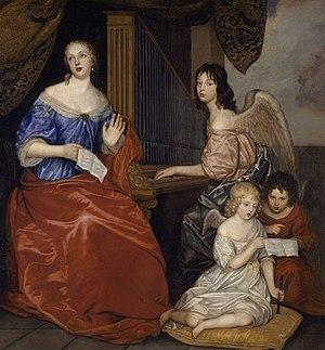 Louise de La Vallière - Louise de La Vallière and her children by Peter Lely, Musée des Beaux-Arts de Rennes