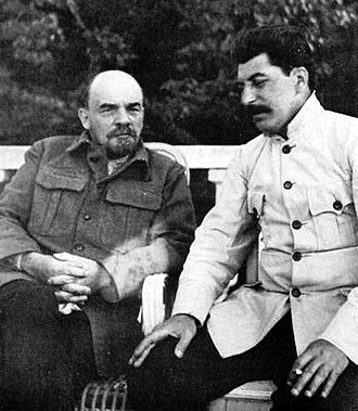 Economy of the Soviet Union - Image: Lenin and stalin crop