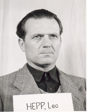 Leo Hepp - Hepp as a witness at the Nuremberg Trials
