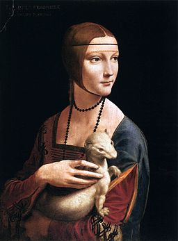 Leonardo da Vinci - Portrait of Cecilia Gallerani  (Lady with an Ermine) - WGA12698