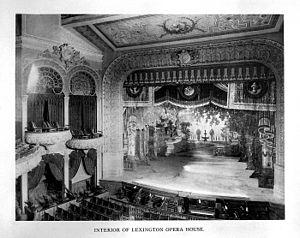 Lexington Center - Interior of Opera House, 1898