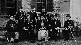 Edward Seymour (Royal Navy officer) - Seymour (third from left) with Li Hongzhang, the Qing dynasty's main negotiator during the Boxer Rebellion, 1900