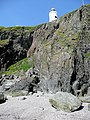 Lighthouse from the cove - geograph.org.uk - 1336007.jpg